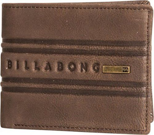 BILLABONG MENS WALLET.PHOENIX REAL LEATHER BROWN SNAP NOTE/COIN PURSE 7W W03 450